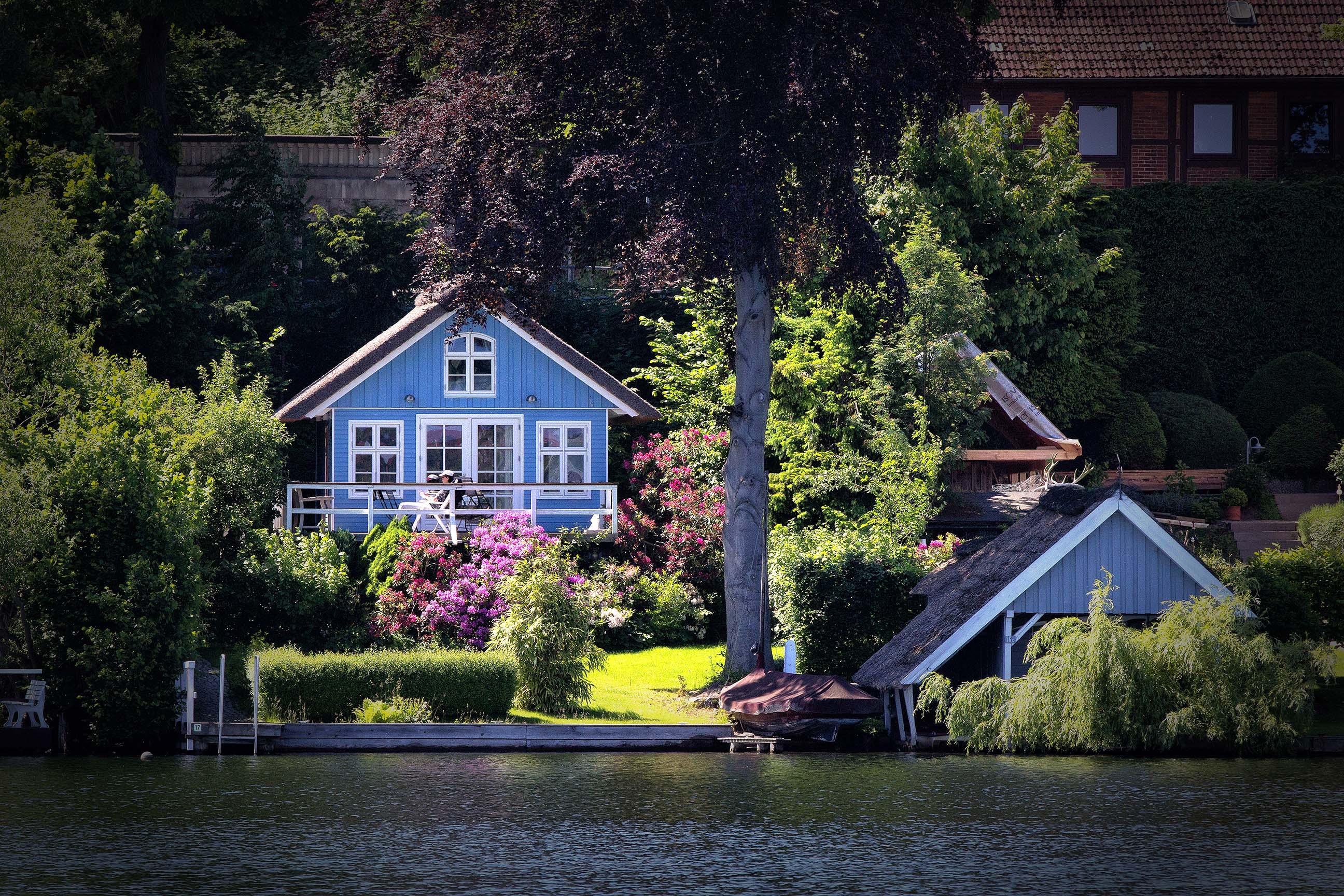 Ferienhaus am Küchensee (Ratzeburg) in Blau