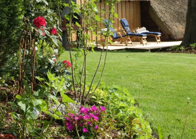 Ferienhaus am Küchensee (Ratzeburg) Garten, Blume, Terrasse