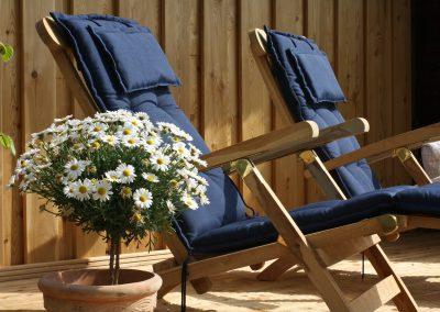 Ferienhaus am Küchensee (Ratzeburg) Gartenstühle in Blau