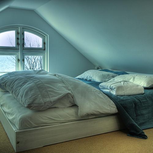 Doppelbett mit Traumblick